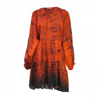 Maxikleid YIPPIE HIPPIE Muster -rot-