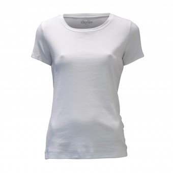 Rippen Shirt THYLIE -T006 weiß-