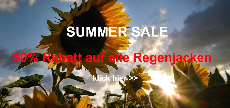 Summer Sale: 50% auf Regenjacken